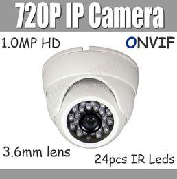 Promotion dôme intérieur caméras ip Caméra IP 720P ONVIF Mini Dome Xmeye pour appareil Android iPhone 1.0MP CCTV 3.6mm P2P plug intérieure Network Camera