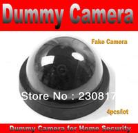 Precio de Sistema de seguridad de la bóveda del ccd-Falso Señuelo Dummy CCTV Cámara Domo 4pcs/lot Casa Sistema de Seguridad con LED verde Parpadeando en Rojo sin necesidad de cableado