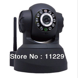 Wholesale New Plug amp Play Wireess IP Video Camera Alarm Dome Dual Audio IR Night Vision PanTilt CCTV Security Webcam American power adapter