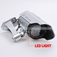 Wholesale Realistic Looking Fake Camera Dummy Solar Powered Security CCD Camera with Red Blinking LED for Indoor or Outdoor USE