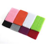 Wholesale Grey Professional Soft Cotton Sweatband Wristband Sweat Wrist Band Support Sports Yoga Aerobics Jogging Inch