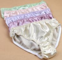 panties - 6 Women s Silk Panties Briefs Bikinis Size L XL XXL Solid China