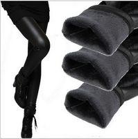Cheap 2015 new fashion brand imitation leather warm autumn winter thick velvet big plus size leggings pants NBZ0011