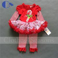 Wholesale Vestidos Infantis Christmas Baby Girl Clothing Set Newborn Baby Girl Clothes Roupas De Bebe Menino Baby Clothing