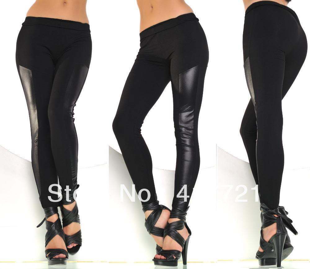 2017 Ml7642 Black Sexy New Design Leggings For Women Comfortable Seamless Leather Leggings From ...