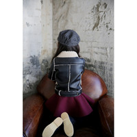 Wholesale New Autumn winrter children coats fashion baby leather jackets for girls lastest designer kids fleece clothes toddler T