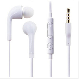 Bruit de microphone en Ligne-Vente en gros haut Earphone Qualité 3.5mm écouteurs In Ear Noise Isoler Mic Headphones Avec Ear Buds Microphone Samsung Galaxy