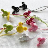 Wholesale Lovely Mickey Mouse Earphones Earbuds Headphones For MP3 MP4