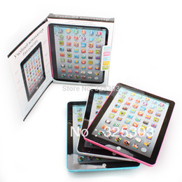 Wholesale Best Gift for Chrildren s Day Russian Version Ipad laptop computer table farm music lighting learning machine toys for child