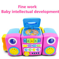 audio language learning - Portable Audio new hot Baby learning machine recorder cd player story machine multifunctional puzzle early learning toy