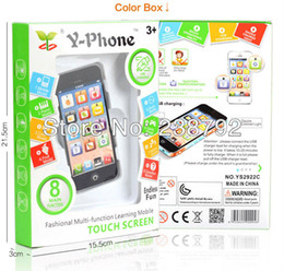 Wholesale Y phone fashional multi function learning mobileTouch Screen Y phone Toy With Micro USB Charging Spigot