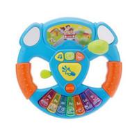 baby transportation - Intelligence Toy transportation tools Music lights steering wheel Baby Educational Electronic