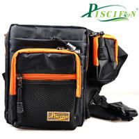 Piscifun 22x8x19cm Открытый талии Black Pack Многофункциональный водонепроницаемый сумки Зимняя рыбалка на льду рыболовные снасти Fly Fishing Bag