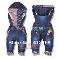 baby overalls pattern - 2015 New Special Offer Full Length Pattern Kid Kids Baby Spring And Autumn Bib Pants Overalls Denim Flag Clothing Freeshipping