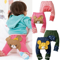 Wholesale 3pcs Busha PP Pant Special Baby Kids PP Pants Long Autumn Cartoon Bear Legging Baby Boys Girls Clothes Gift
