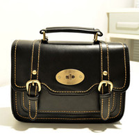 Wholesale 2015 women s handbag bag preppy style black fashion vintage messenger bag handbag one shoulder cross body bag small
