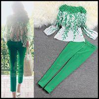 Cheap 2015 Fashion renda Embroidery Floral Lace Crochet Blouse Lace Printed Chiffon Shirt Green Long Sleeve Top blusa de renda women