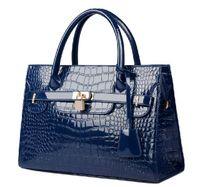Wholesale 2015 new style women handbag crocodile pattern crossbody bag fashion casual totes elegant shiny shoulder bag women messenger bag