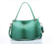 Wholesale 2015 Hot Sale for chritsmas gift Fashion Women Bag Lady handbag Snakeskin Leather Shoulder Bag Elegant Fee shipping