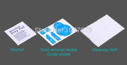 Wholesale Dust Removal Sticker Alcohol Prep Pad Cleaning Cloth Three piece Suit Wash Cell Phone Clean LCD Mobile Phone Screen Film Stick