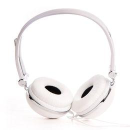 Wholesale Rockpapa DJ Style Adjustable Over Ear Funky Headphones Boys Kids Childs Girls Teens for iPad Air iPod MP3 Phone DVD White