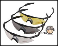 airsoft shooting glasses - 3pcs Hot Airsoft Tactical Military Shooting Shoot Glasses Googles Ski Cycling Bicycle Outdoor Sports Sunglasses For Men Male