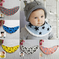 Wholesale Winter Warm Infants Kids Baby Cartoon Pattern Baby Towel Saliva Waterproof Lunch Bibs M Y Freeshipping