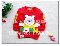Wholesale Boys long sleeved T shirt cartoon cartoon bear long sleeve T shirt sweater jacket