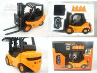 Wholesale Radio control toy RC Truck Large Forklift toy Six channel Desktop Crane industry fork car