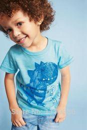 Wholesale Hot Sale New Children short sleeve t shirts Kids Clothing Tees Cool cartoon dinosaur pattern Boys T Shirts Baby T shirt