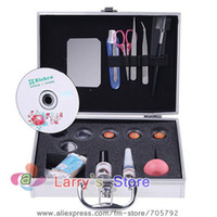 eyelash extension kit - Professional False Eyelashes Eye Lash Extension Full Set Kit Fake Glue Eyelash Makeup Tool With Case