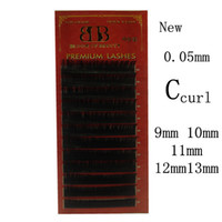 Wholesale BLOOM OF BEAURTYhigh quality rows tray mm C curl eyelash for eyelash extensions mm to mm set