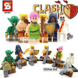 Wholesale Clash Of Clans Minifigures SY261 Minifigure Building Blocks Figure Barbarian Goblin Wizard Wall Breaker Archer Toys For Children