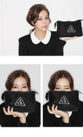 stylenanda - Korea Stylenanda Concept Eyes CE Three Eye Large Capacity Cosmetic Pouch Bag