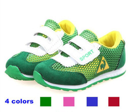 Wholesale Boys and girl shoes Male and female child tennis Net surface leisure breathable single net kins sneakers