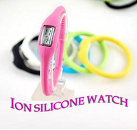 Wholesale ION SILICONE Ion Wrist Bracelet Watch Waterproof SPORT WATCH WATCH ATM Health Anion negative