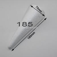 Higiene do transporte de atacado 18,5 cm branco natural Cones de Isopor Ornamentos Bolas para feito à mão diy artesanato(24pcs/lote)