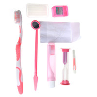 Wholesale Promotion Dental Products Orthodontic Brushes Mirror Tooth Brush Tougue Picks Floss Oral Care Kit Oral Clean tools