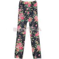 baby silk pant - Children Baby Girls Colorful Floral Printing Milk Silk Leggings Pants Children s Clothing Lovely Rose Printed Girls Leggings