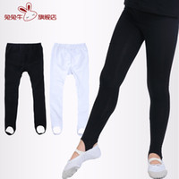 ballet stretches - Girl Hold And Stretch Stirrup Legging For Dance Ballet Whole Sale Spandex Black And White Leggings