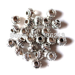 Wholesale 500 Antique Silver Zinc Alloy Lantern Tibetan Metal Beads for Jewelry Making Necklace Bracelet Anklet Earring