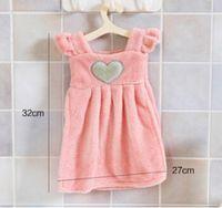 absorbent dressing - 32 cm Fresh Thickening Coral Fleece Hanging Super Absorbent Dress Towel Handkerchiefs