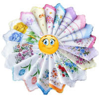 ladies handkerchiefs - 20 new arrive Ladies Vintage Cotton Flower floral Embroidered pocket squares Handkerchiefs very beautiful FS0441