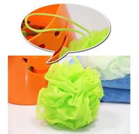 body wash - Hot sale Bath Ball Lily Scrub Shower Net Wash Body Exfoliate Puff Sponge Mesh Colors