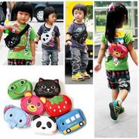 Cheap Free Shipping 5pcs lot Wholesale Child Cartoon Waist Pack Baby Messenger Bag Chest Pack Preschool Animal Tote Bag