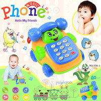 baby music belt - cp565 Baby Toys phone Child music phone ring backguy smiley phone belt diabolo dial phone educational toys