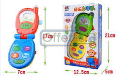 Wholesale News Children s music multi function toy phone clamshell mobile phones baby toys
