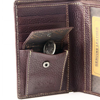 bank checkbook - Men s Dark Brwon Bifold Genuine Cowhide Leather Coin Pouch Checkbook Multi Function Wallet Purse Credit Bank ID Card