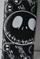 Wholesale The Nightmare before Christmas Black Skull Head Wallet Purse Movie Gift Cosplay Free Ship Movie ping