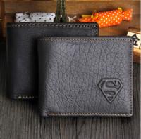 Wholesale Men s Leather Wallet Superman S Wallet